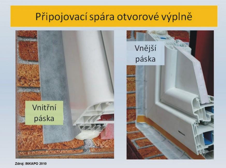Těsnění osazovací spáry oken