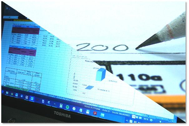 Při zpracování energetických auditů nám záleží na detailech. Pohled na malou část analytické tabulky v MS Excel a na detail analýzy výměr budovy.