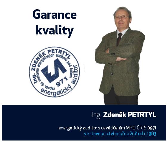 Energetický auditor a specialista Ing. Zdeněk Petrtyl