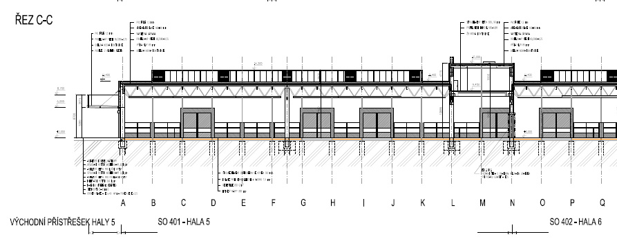 Příklad novostavby průmyslové haly, pro kterou jsme dodali PENB