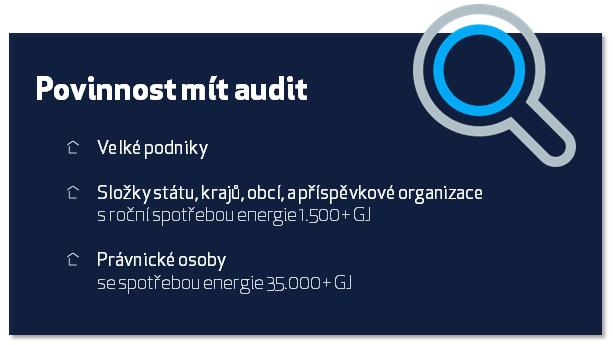 Povinnost zpracovat energetický audit. Tato tabulka přehledně shrnuje základní body.