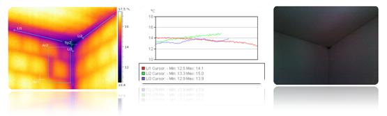 příklad měření termovizní kamerou