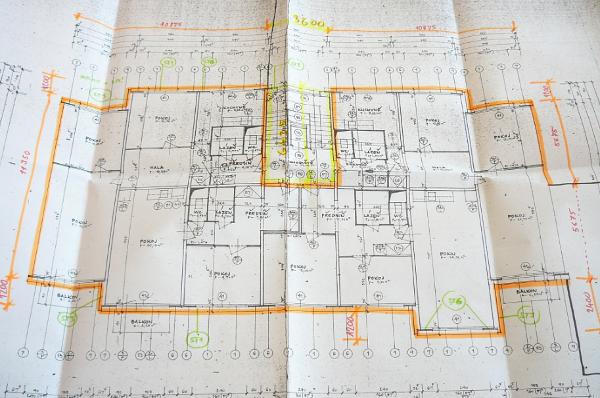 Příklad projektové dokumentace stávajícího stavu panelového bytového domu