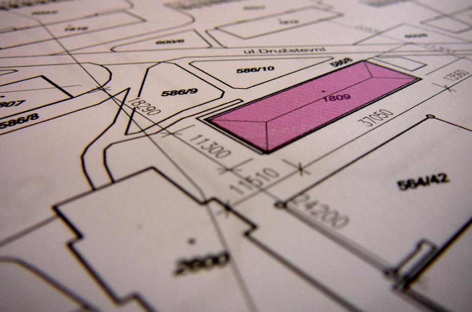 Situační výkres s vyznačenou polohou bytového domu.