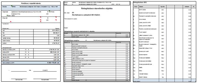 Rozpočet, výkaz výměr a soupis prací pro realizaci výběrového řízení na dodavatele stavebních prací