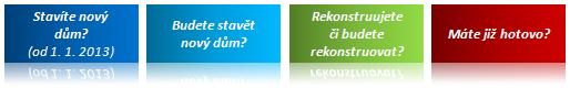 Scénáře pro získání podpory v programu Nová zelená úsporám 2013