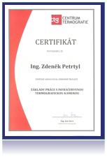 certifikát základy práce s infračervenou termografickou kamerou