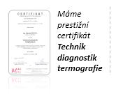 Technik diagnostik termografie prestižní certifikát