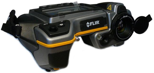 Používáme kvalitní profesionální termokameru Flir B335